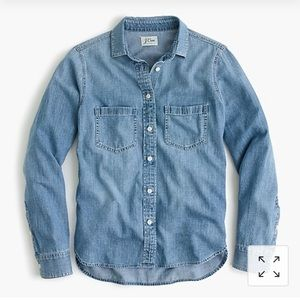 J Crew Everyday Chambray shirt (tall)
